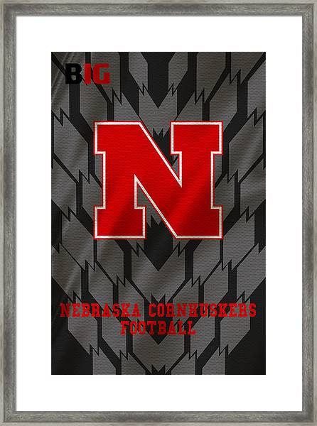 Nebraska Cornhuskers Uniform 3 Framed Print