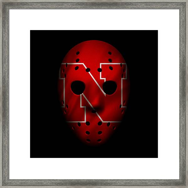 Nebraska Cornhuskers War Mask Framed Print