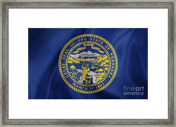 Nebraska Flag Framed Print