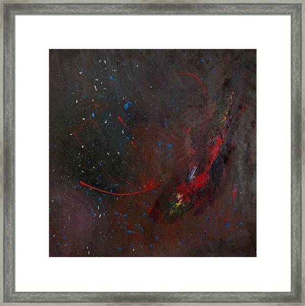 Framed Print featuring the painting Nebula by Michael Lucarelli
