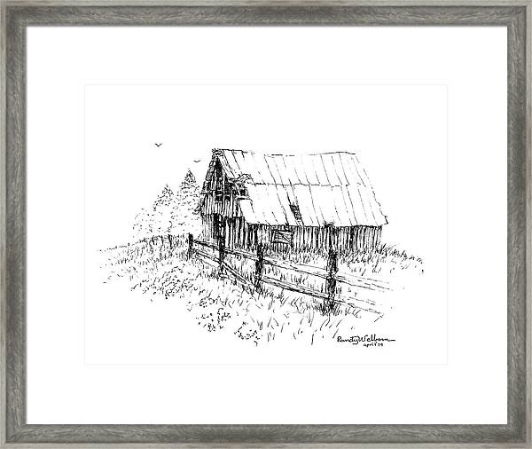 Need A Little Roof Repair Framed Print
