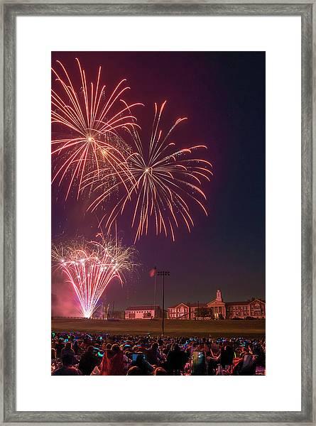 Needham Celebrates The 4th Of July Framed Print