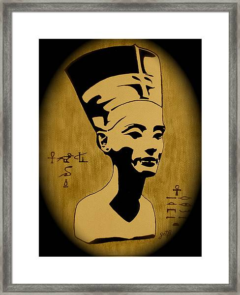 Nefertiti Egyptian Queen Framed Print