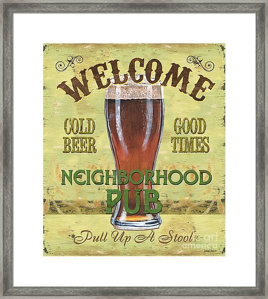 Neighborhood Pub Framed Print