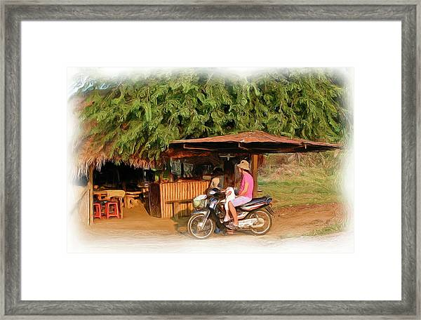 Neighborhood Restaurant 1 Framed Print