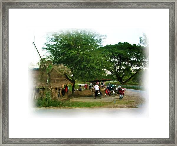 Neighborhood Restaurant 2 Framed Print