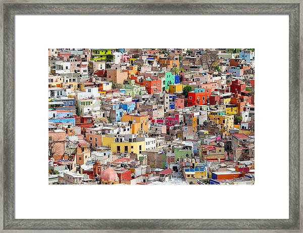 Neighbourhood. Guanajuato Mexico. Framed Print
