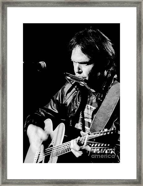 Neil Young 1986 #2 Framed Print