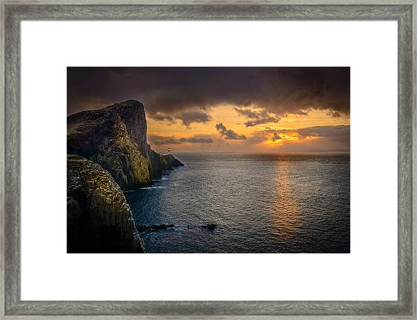 Neist Point Lighthouse Isle Of Skye Framed Print