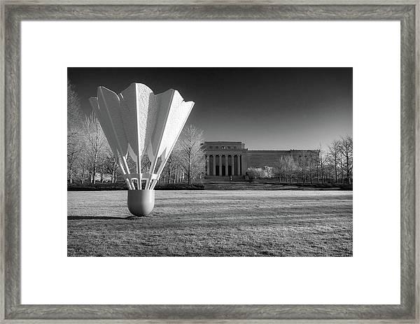 Nelson Atkins Art Museum In Infrared - Kansas City Framed Print