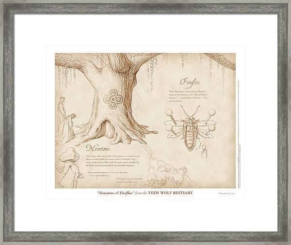 Nemetons And Fireflies Framed Print