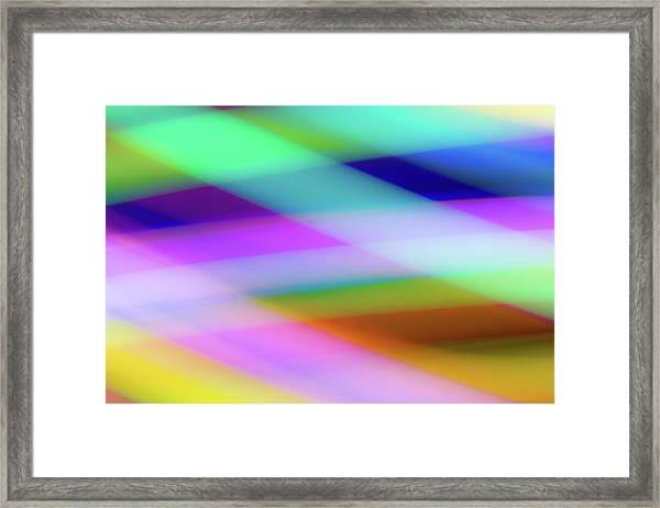 Neon Crossing Framed Print