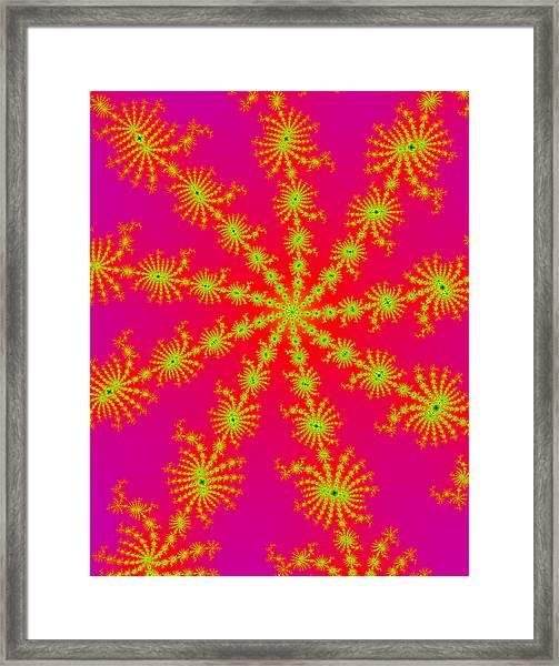 Neon Fractals Framed Print
