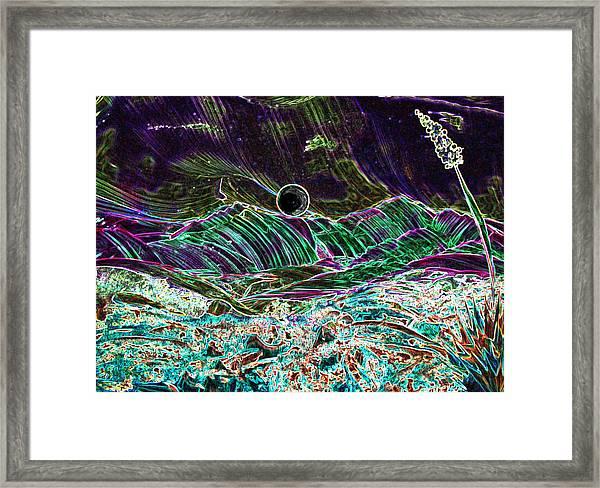Neon Moon Framed Print