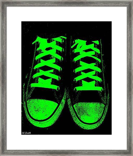 Neon Nights Framed Print