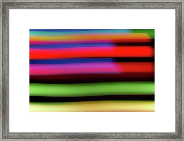 Neon Stripe Framed Print