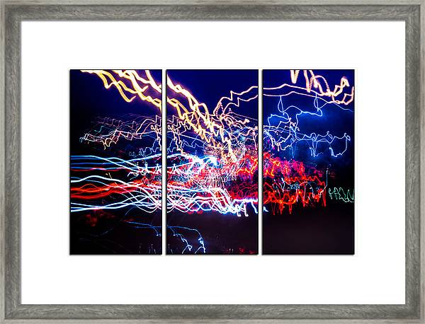 Neon Ufa Triptych Number 1 Framed Print