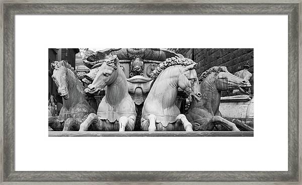 Neptune's Horses Framed Print