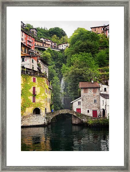 Nesso On Lake Como Italy Framed Print