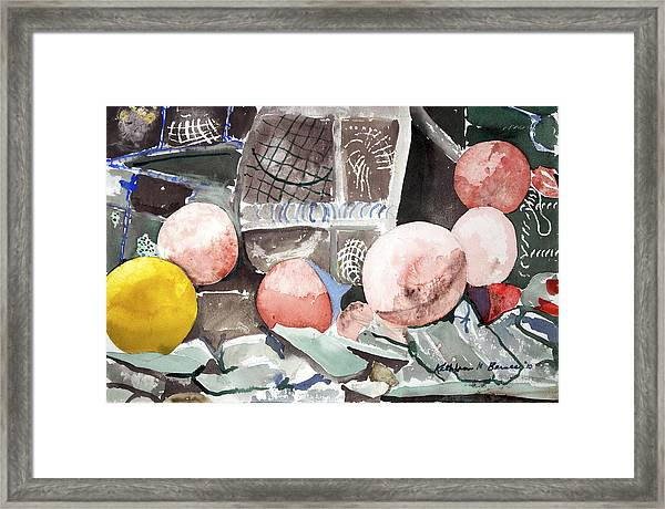 Nets And Floats Framed Print