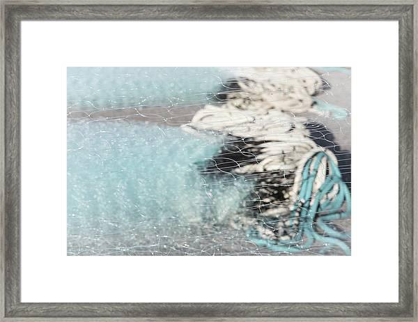 Netting The Sea Framed Print