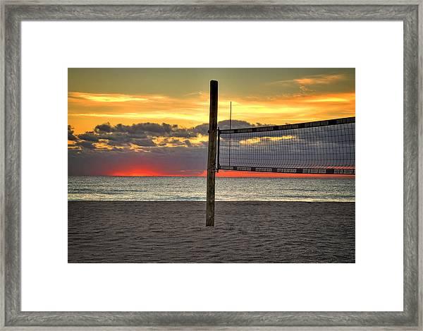 Netting The Sunrise Framed Print