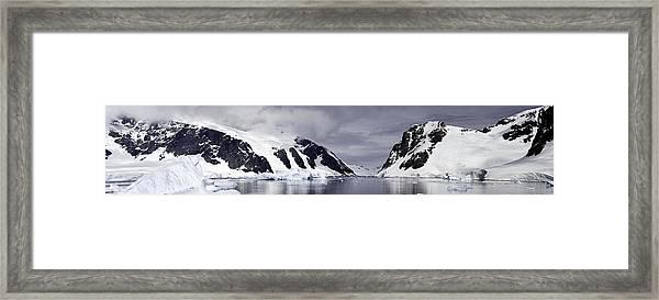 Neumeyer Channel - Antarctica Framed Print