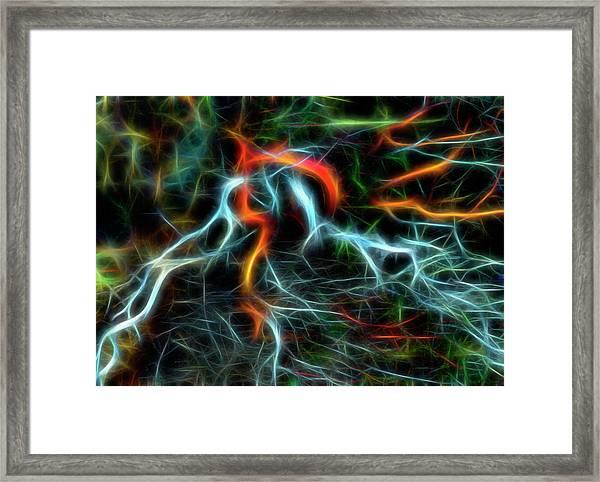Neurons On Fire Framed Print