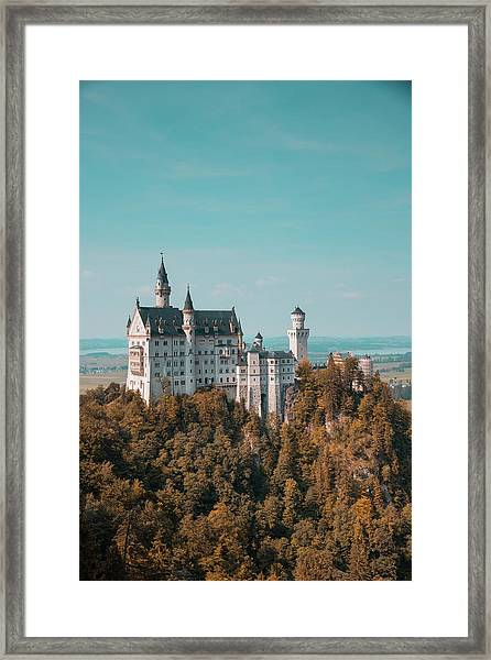Framed Print featuring the photograph Neuschwanstein Castle by Eric Marty