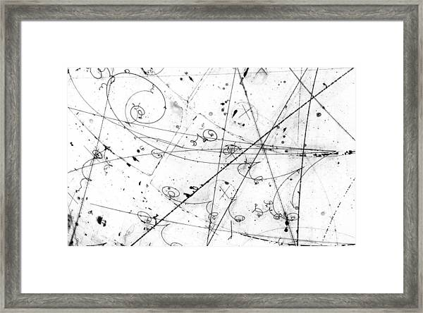 Neutrino Particle Interaction Event Framed Print
