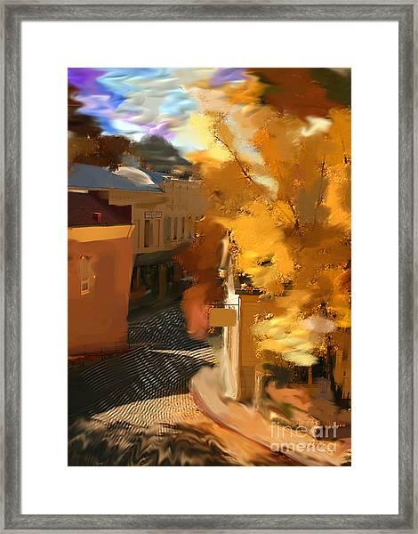 Nevada City In Fall Framed Print