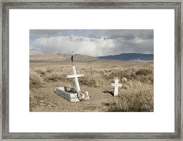 Nevada Grave Framed Print