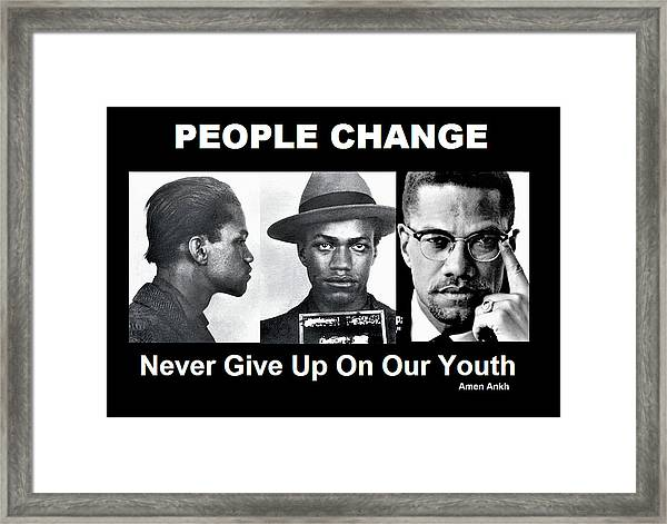 Never Give Up On Our Youth Framed Print