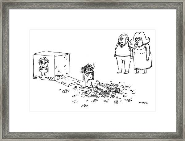 New Baby Framed Print by Edward Steed