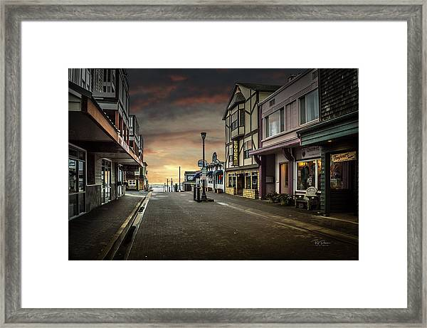 Nye Beach Sunset Framed Print
