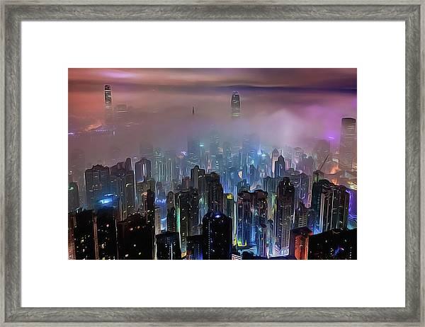 New City Skyline Framed Print