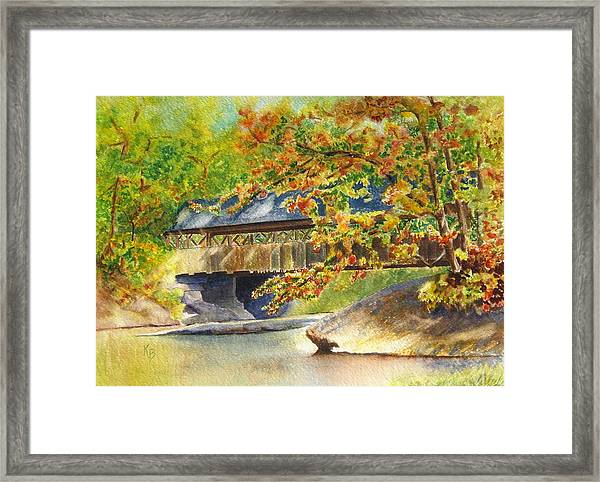 New England  Covered Bridge Framed Print