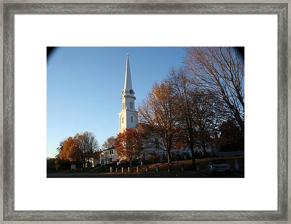 New England Framed Print