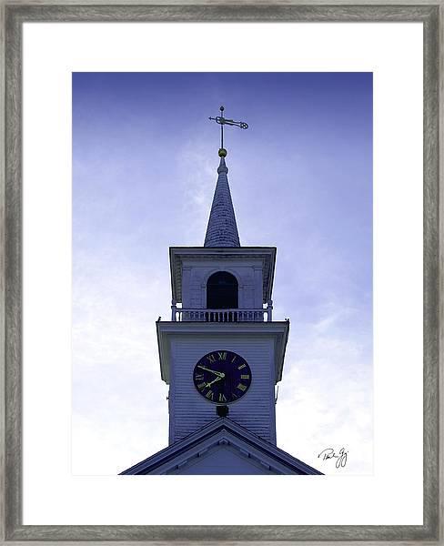 New England Steeple Framed Print by Paul Gaj