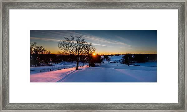 New England Sunrise Framed Print