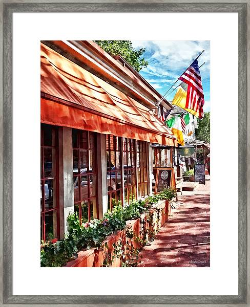 New Hope Pa - Outdoor Seating Now Open Framed Print