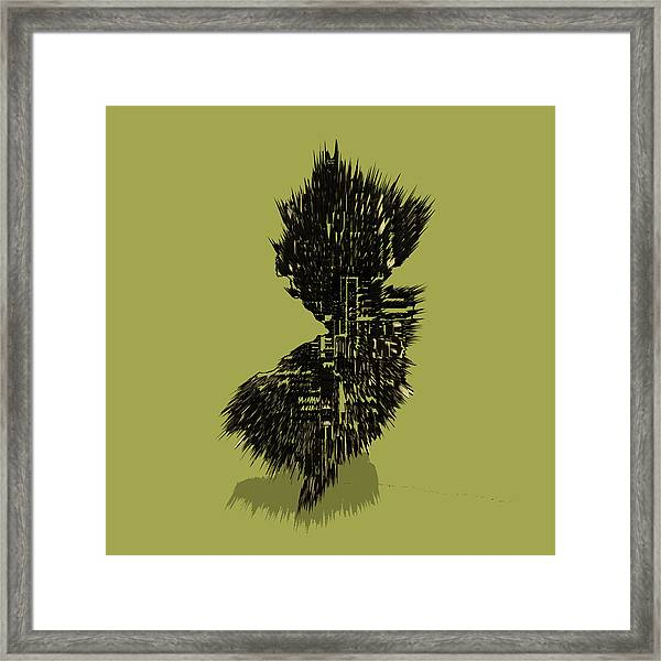 New Jersey Typographic Map 4a Framed Print