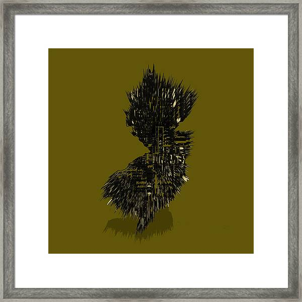 New Jersey Typographic Map 4b Framed Print