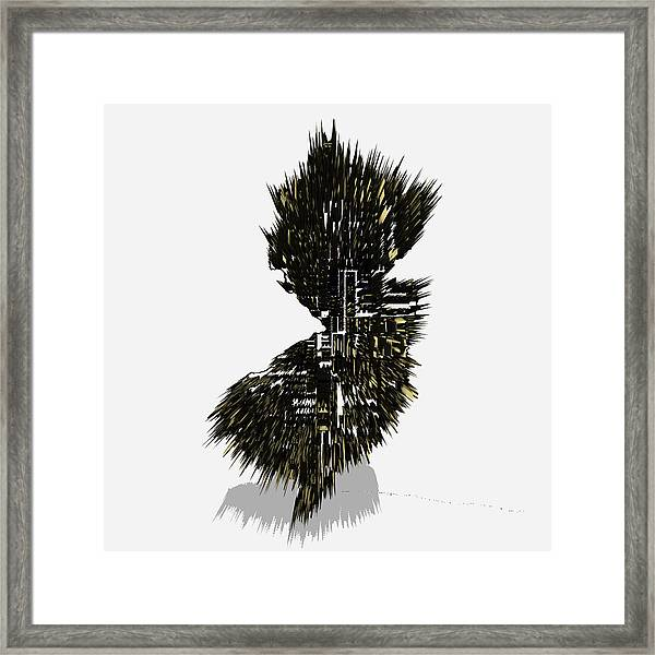 New Jersey Typographic Map 4c  Framed Print