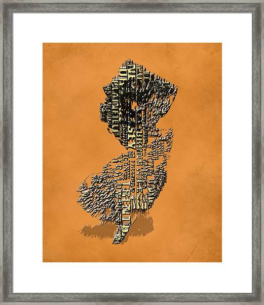 New Jersey Typographic Map 4i Framed Print