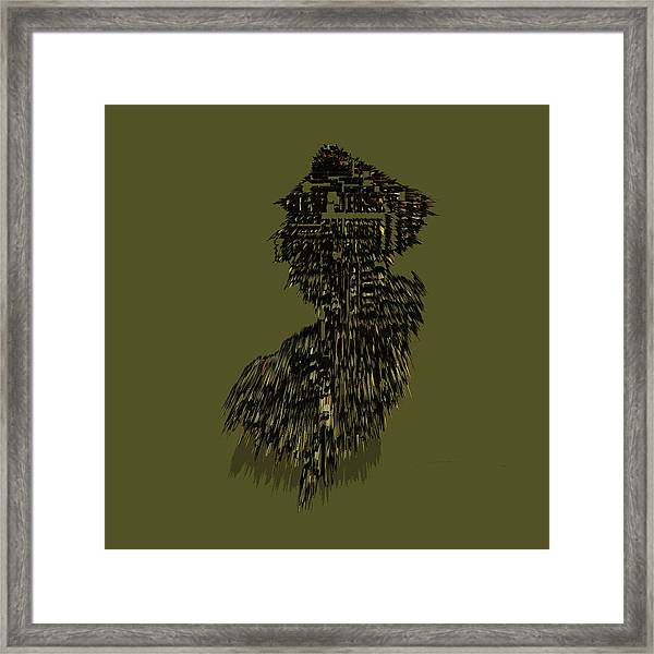New Jersey Typographic Map 5m Framed Print
