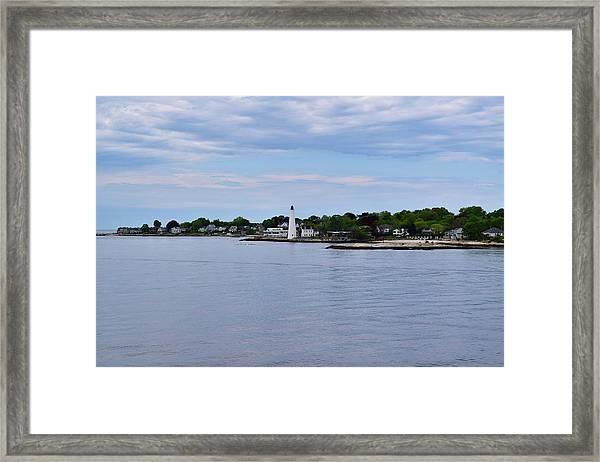 New London Harbor Lighthouse Framed Print