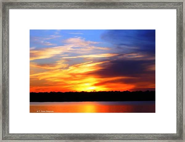 New Longview Sunset Framed Print