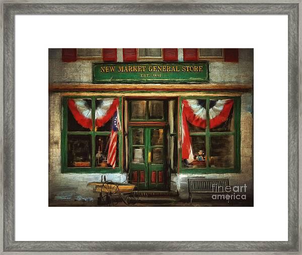 New Market General Store Framed Print