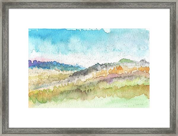New Morning- Watercolor Art By Linda Woods Framed Print
